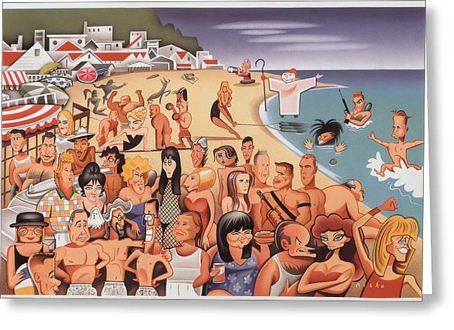Malibu Beach Greeting Card by Robert Risko
