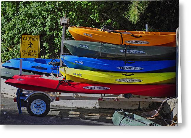 Malibu Kayaks Greeting Card by Gandz Photography