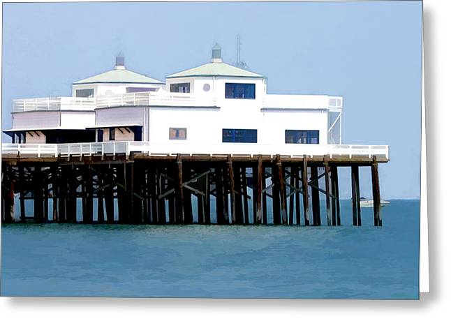 Malibu Pier On A California Blue Sky Day Greeting Card