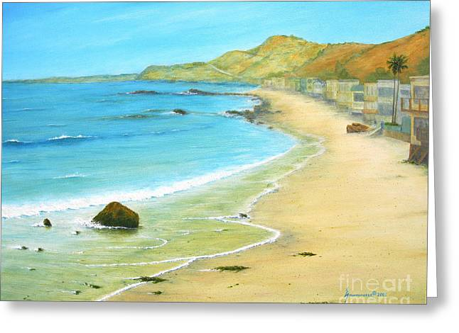 Malibu Road Greeting Card by Jerome Stumphauzer