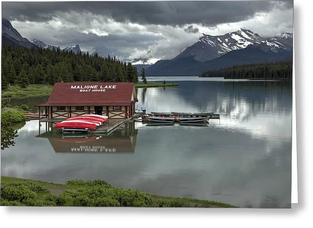 Maligne Lake Jasper Park Greeting Card