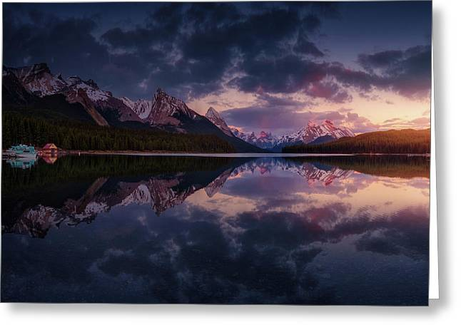 Maligne Mountains Greeting Card