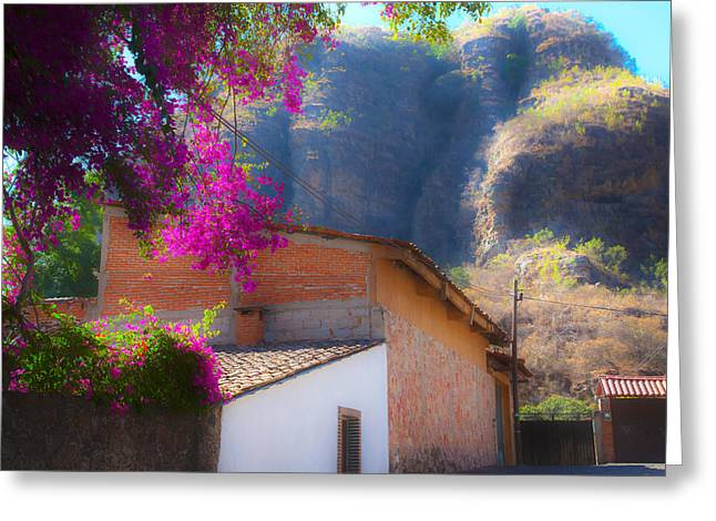 Malinalco Backstreets Greeting Card