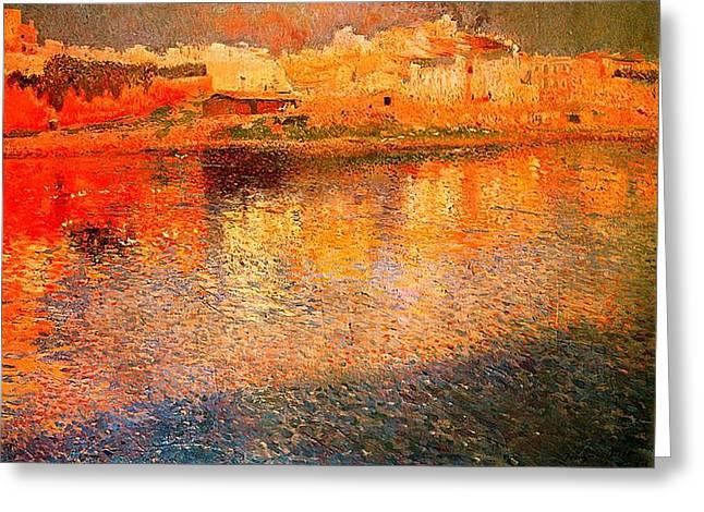 Mallorca Reflections Greeting Card by Joaquin Mir