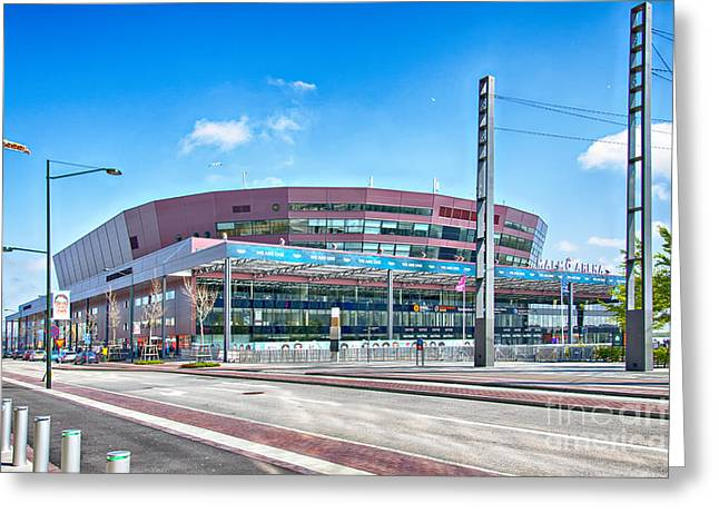 Malmo Arena 07 Greeting Card by Antony McAulay