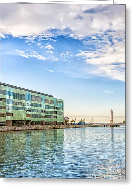 Malmo Riverside Greeting Card by Antony McAulay