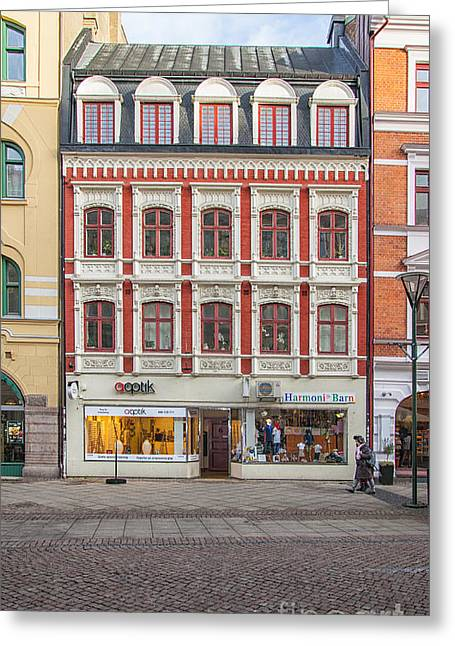 Malmo Shops Greeting Card by Antony McAulay