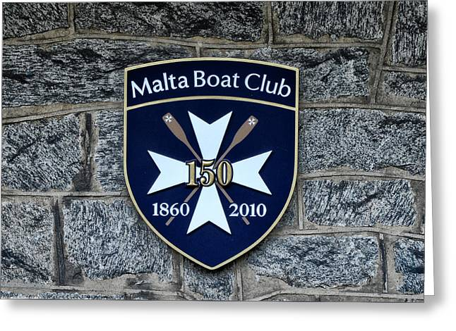 Malta Boat Club Greeting Card
