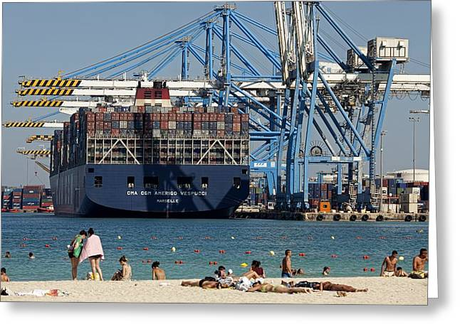 Malta Freeport Greeting Card by Science Photo Library