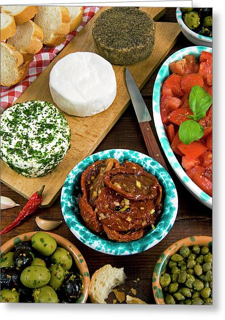 Maltese Appetizer Gbejniet (round Greeting Card