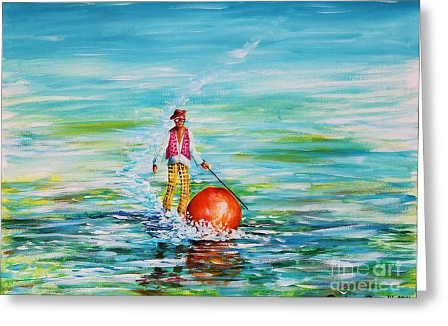 Strolling On The Water Greeting Card