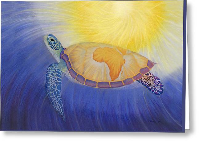 Mama Africa Turtle Greeting Card