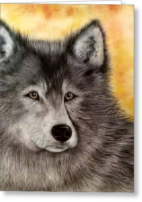 Mama Wolf Greeting Card