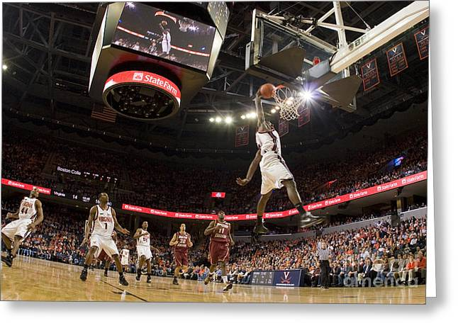 Mamadi Diane Dunk Against Boston College Greeting Card by Jason O Watson