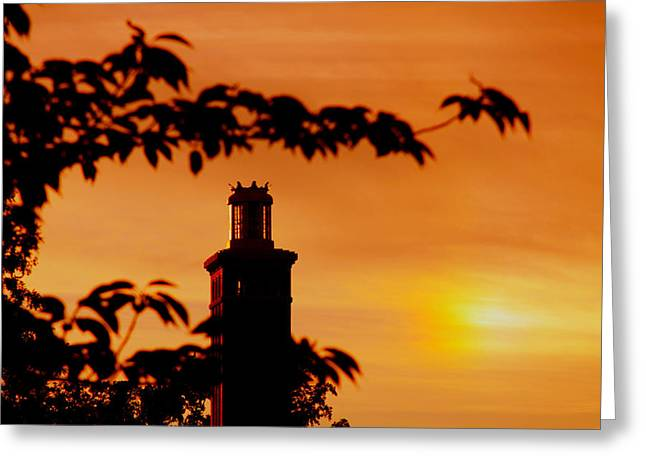 Greeting Card featuring the photograph Mamaroneck Lighthouse Nearing Sunset by Aurelio Zucco