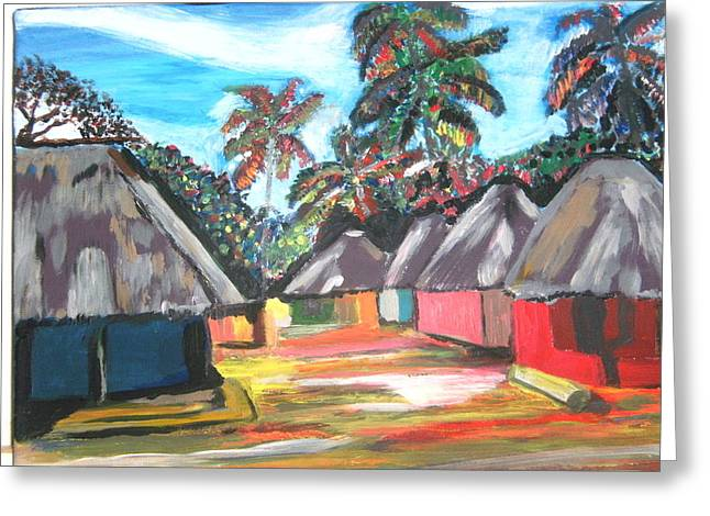 Mamboima The Tamarinds Village Greeting Card