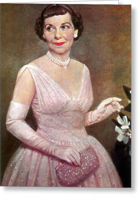 Mamie Eisenhower, First Lady Greeting Card by Science Source