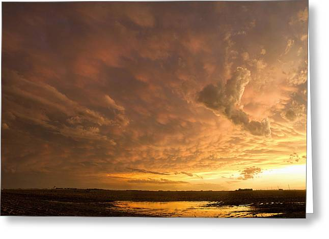 Greeting Card featuring the photograph Mammatus Clouds by Rob Graham