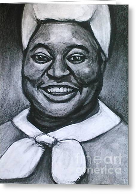 Greeting Card featuring the drawing Mammie by Gabrielle Wilson-Sealy