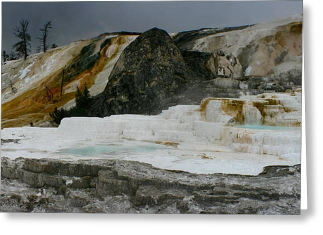 Mammoth Hot Springs Greeting Card by Jon Emery