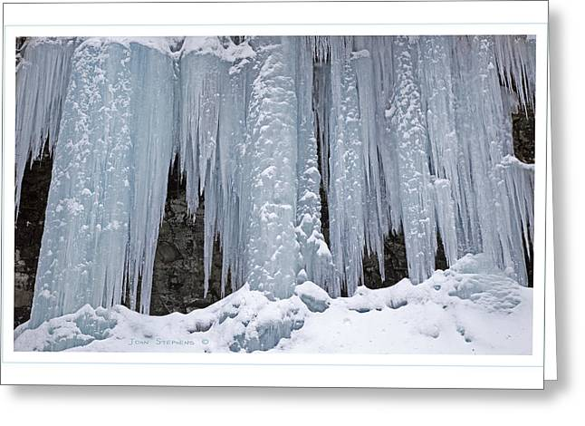 Mammoth Icicles Greeting Card by John Stephens