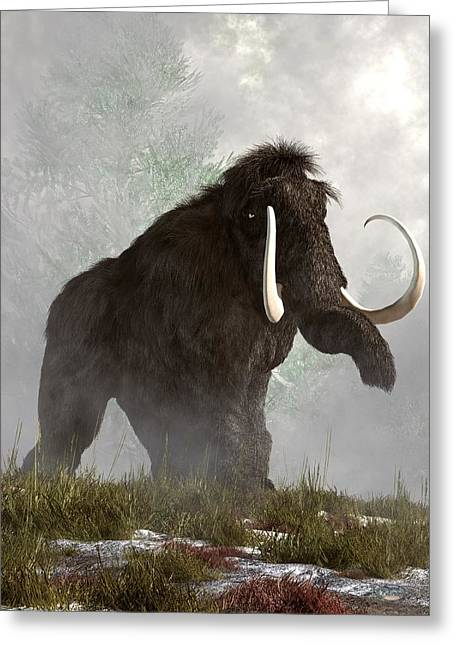 Mammoth In The Fog Greeting Card by Daniel Eskridge
