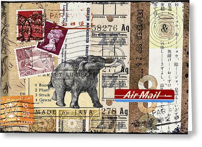 Mammoth Mail Greeting Card by Carol Leigh