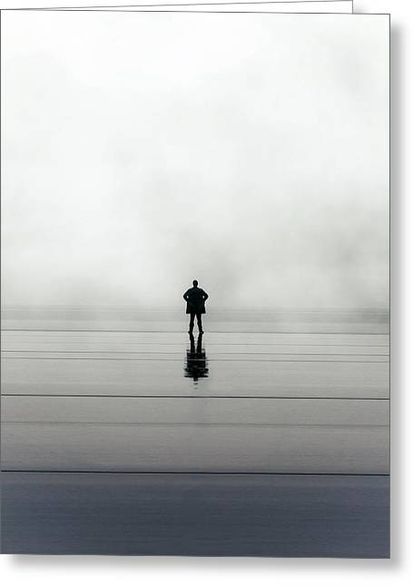 Man Alone Greeting Card