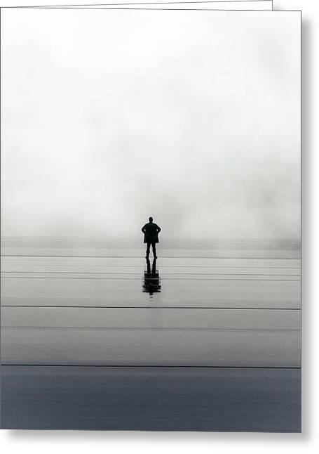 Man Alone Greeting Card by Joana Kruse