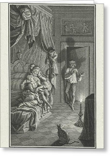 Man Entering A Room, Print Maker Jacob Folkema Greeting Card by Jacob Folkema