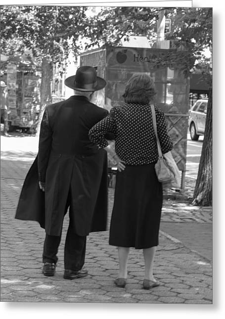 Man Hat And Woman Greeting Card