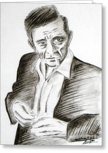 Man In Black - Johnny Cash Greeting Card