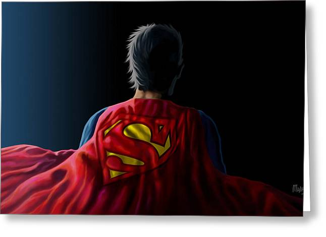 Man Of Steel - Superman Greeting Card by Anthony Mwangi