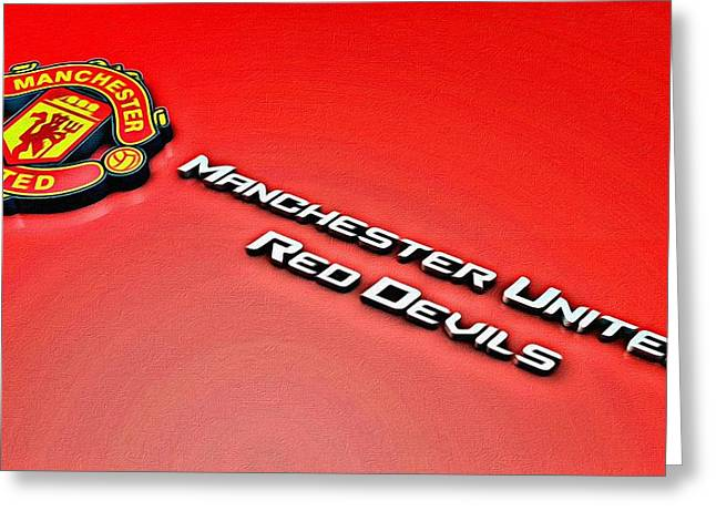 Man United Red Devils Poster Greeting Card