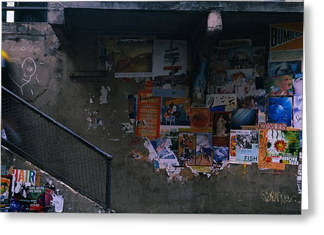 Man Walking Upstairs From Post Alley Greeting Card by Panoramic Images