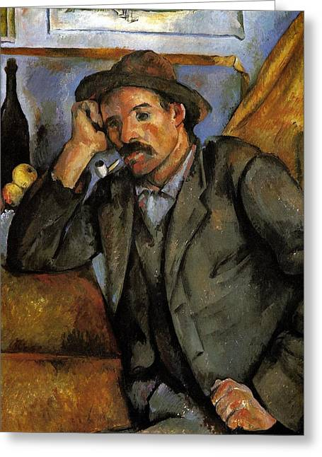 Man With A Pipe Greeting Card by Paul Cezanne