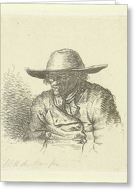 Man With Hat With Wide Brim, Anthonie Willem Hendrik Greeting Card