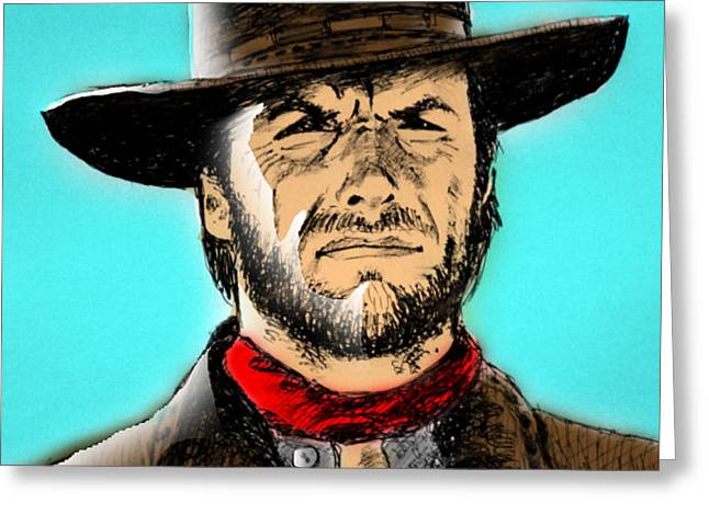 Clint Eastwood Greeting Card by Salman Ravish