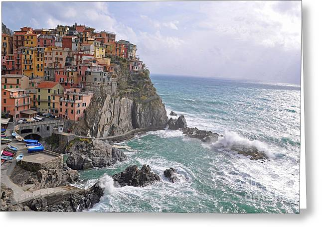 Manarola  Greeting Card by Aleksey Lavochin