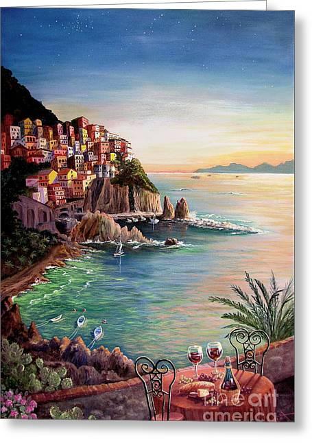 Manarola-cinque Terre-italy Greeting Card by Marilyn Smith