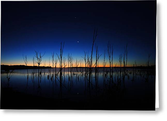 Greeting Card featuring the photograph Manasquan Reservoir At Dawn by Raymond Salani III