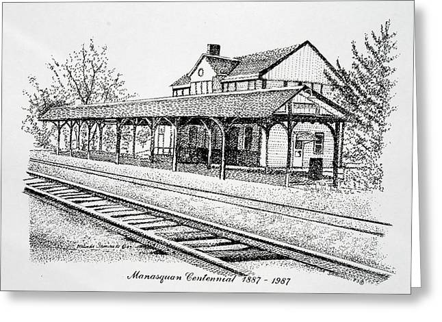 Manasquan Train Station Greeting Card