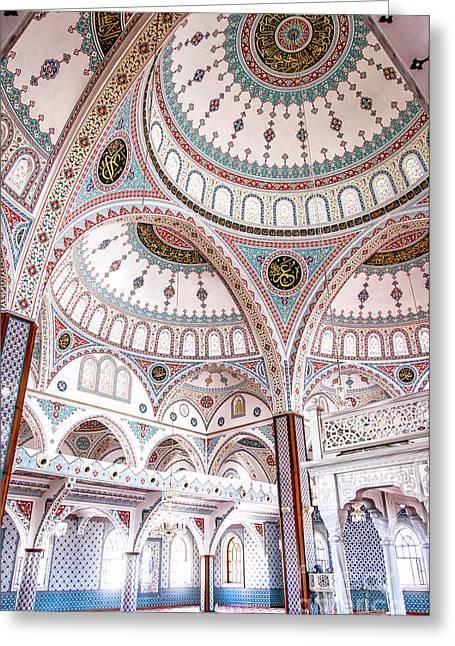 Manavgat Mosque Interior 02 Greeting Card by Antony McAulay