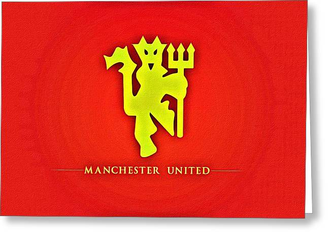 Manchester United Football Club Poster Greeting Card