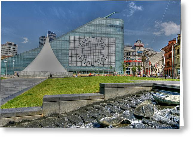 Manchester Urbis Building Greeting Card by David Birchall