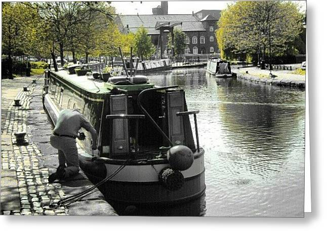 Manchestet Canal Greeting Card