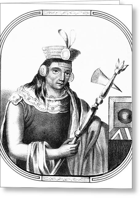 Manco C�pac, Founder Of Inca Greeting Card by British Library