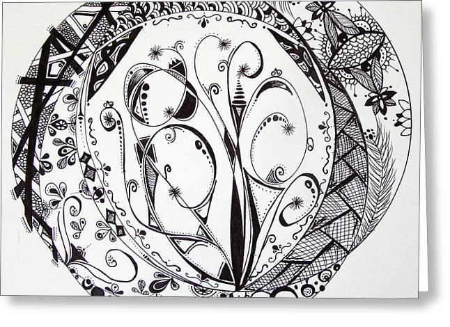 Mandala #1 Greeting Card by Lori Thompson