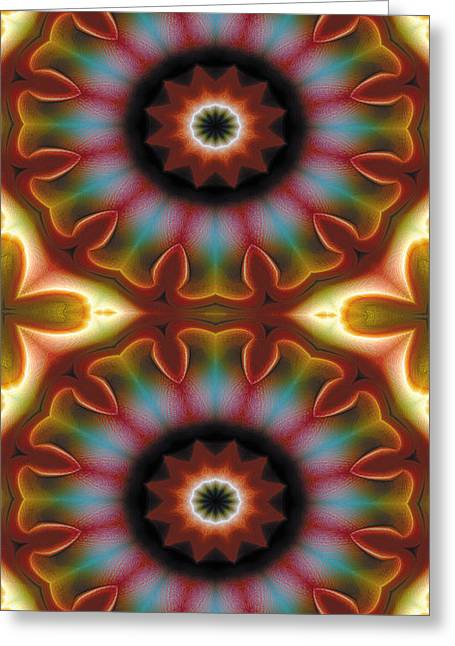 Mandala 101 For Iphone Double Greeting Card by Terry Reynoldson