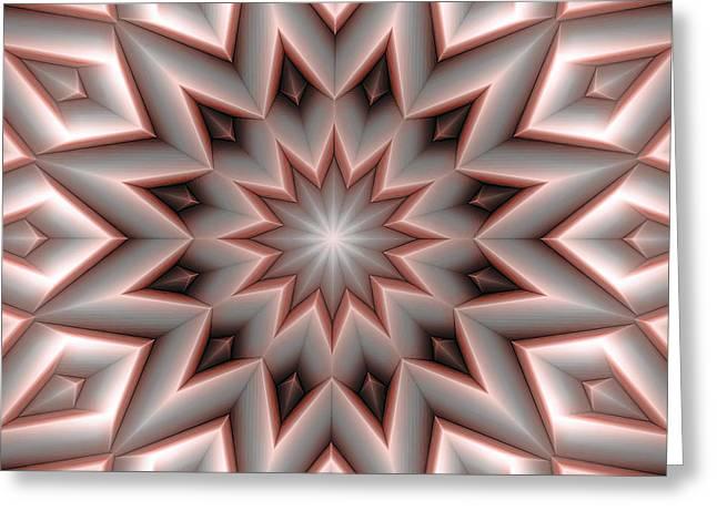 Mandala 107 Red Greeting Card by Terry Reynoldson